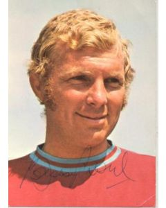 West Ham United - Bobby Moore signed colour postcard