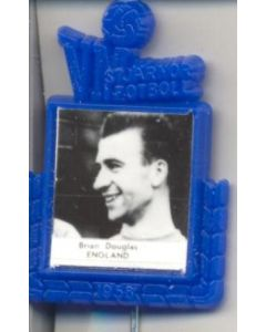 Brian Douglas England World Cup 1958 Badge Blue