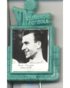 Brian Douglas England World Cup 1958 Badge Green