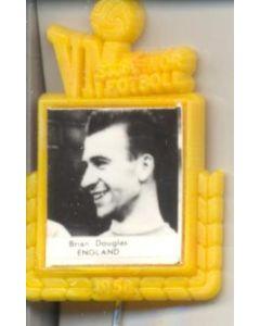 Brian Douglas England World Cup 1958 Badge Yellow