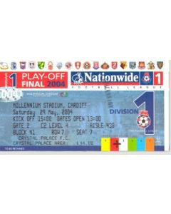 2004 League Cup Final ticket 29/05/2004