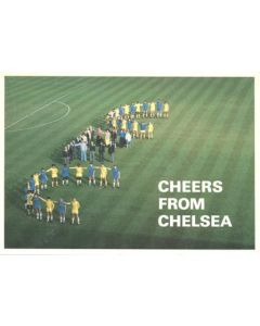 Cheers From Chelsea - Chelsea New Year greetings card with facsimile signatures of the entire team