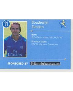 Chelsea Boudewijn Zenden card of 2000-2001