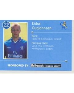 Chelsea Eidur Gudjohnsen card of 2000-2001