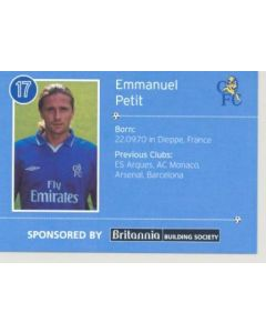 Chelsea Emmanuel Petit card of 2000-2001