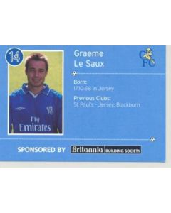 Chelsea Graeme Le Saux card of 2000-2001