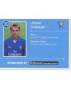 Chelsea Jesper Gronkjaer card of 2000-2001