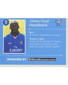 Chelsea Jimmy Floyd Hasselbaink card of 2000-2001