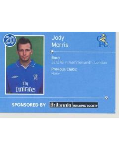 Chelsea Jody Morris card of 2000-2001