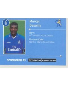 Chelsea Marcel Desailly card of 2000-2001