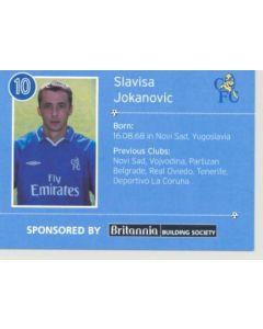 Chelsea Slavisa Jokanovic card of 2000'-2001