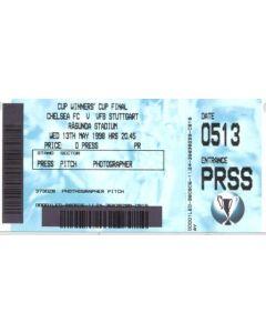 1998 Cup Winners Cup Final Ticket Chelsea v Stuttgart ticket