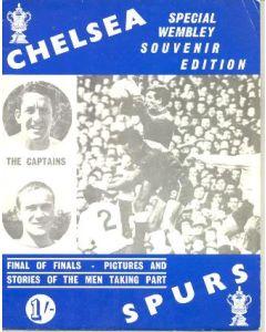 1967 FA Cup Final Brochure Chelsea v Tottenham Hotspur 20/05/1967