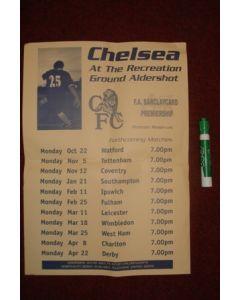 Chelsea at the Recreation Ground Aldershot F.A. Barclaycard Premiership Premier Reserves poster