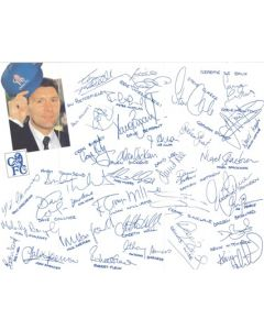 Chelsea Christmas greetings card with facsimile signatures of all footballers