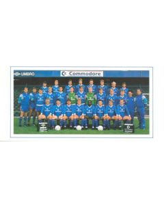 Chelsea Best Wishes card with facsimile signatures of all footballers