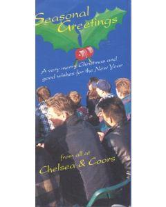 Chelsea & Coors Christmas greetings card