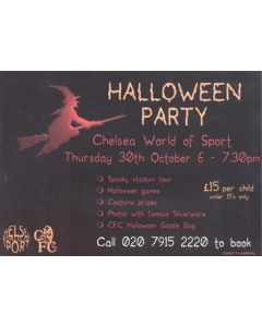 Chelsea Halloween Party Card