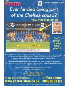 Chelsea leaflet & order form for a personalised poster