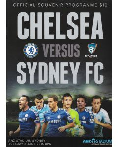 chelsea v sydney football programme 2015