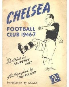 Chelsea 1946-1947 Sketches by Laurence East Autographed by The Players. The rarest of Chelsea memorabilia!