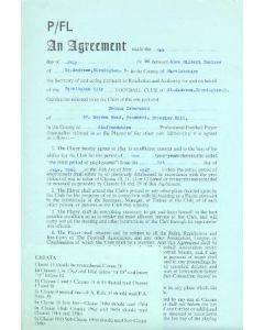 Contract For Hire of a Player between Birmingham City F.C. and Dennis Isherwood of 01/07/1966