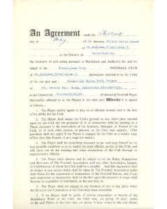 Contract For Hire of a Player between Birmingham City F.C. and Frederick Brian Webb Farmer of 13/05/1969