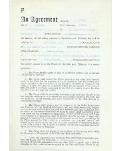 Contract For Hire of a Player between Birmingham City F.C. and George Allen of 01/08/1961
