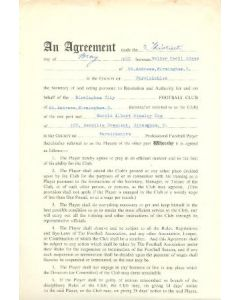 Contract For Hire of a Player between Birmingham City F.C. and Harold Albert Stanley Cox of 13/05/1960