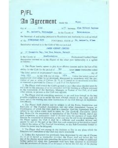Contract For Hire of a Player between Birmingham City F.C. and James Lindley Jenkins of 01/07/1973