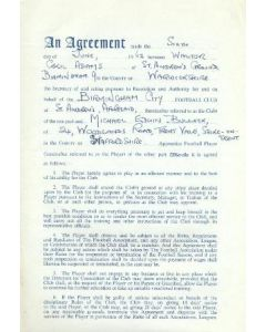 Contract For Hire of a Player between Birmingham City F.C. and Michael Edwin Bullock of 06/06/1962