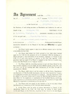 Contract between Birmingham City F.C. and Raymond John Barlow of 15/09/1960