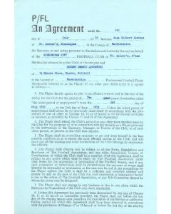 Contract For Hire of a Player between Birmingham City F.C. and Robert Dennis Latchford (Bob Latchford) of 01/07/1972