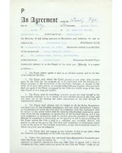Contract For Hire of a Player between Birmingham City F.C. and Robin Gregory Stubbs of 21/05/1962