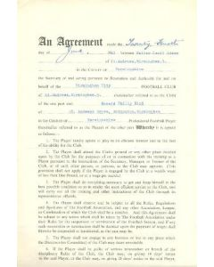 Contract For Hire of a Player between Birmingham City F.C. and Ronald Philip Bird of 24/06/1960