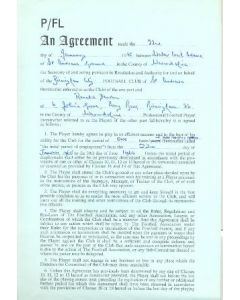 Contract For Hire of a Player between Birmingham City F.C. and Ronald Fenton of 22/01/1965