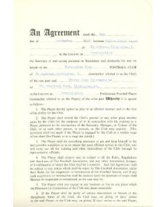 Contract For Hire of a Player between Birmingham City F.C. and Trevor John Wolstenholm of 08/09/1960