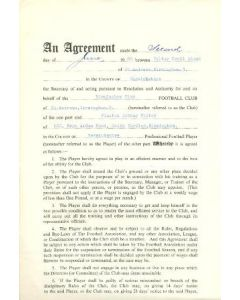 Contract For Hire of a Player between Birmingham City F.C. and Winston Arthur Foster of 02/06/1960