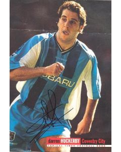 Coventry City Darren Huckerby signed large colour photograph