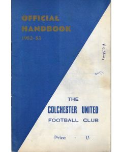 Colchester United Official Handbook 1952-53