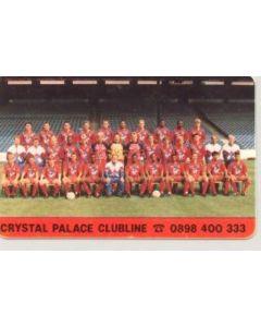 Crystal Palace Clubline card of season 1998-99
