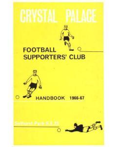 Crystal Palace Supporters' Club Handbook 1966-67