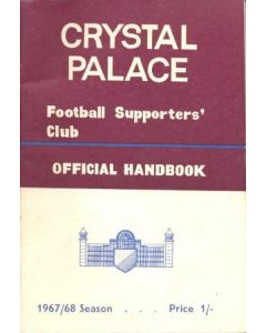 Crystal Palace Official Supporters' Club Handbook 1967-68