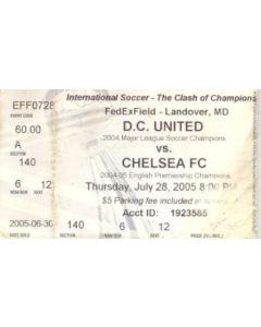D.C. United (USA) v Chelsea ticket 28/07/2005 friendly match