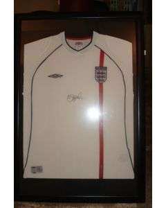 David Beckham Framed Signed Replica Shirt