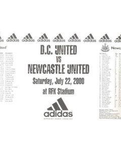 D.C. United v Newcastle United official programme 22/07/2000