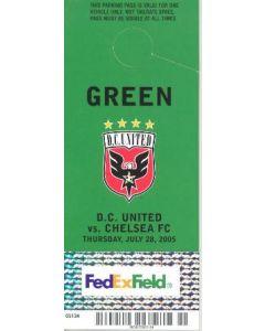 DC United V chelsea parking pass football memorbailia