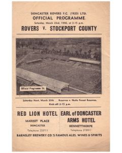 1946 Doncaster Rovers v Stockport County Football Programme
