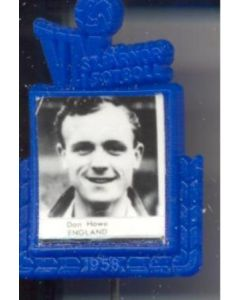 1958 World Cup Swedish Produced Badge Don Howe England