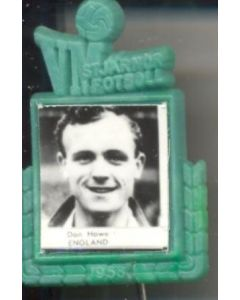 Don Howe England World Cup 1958 Badge Green